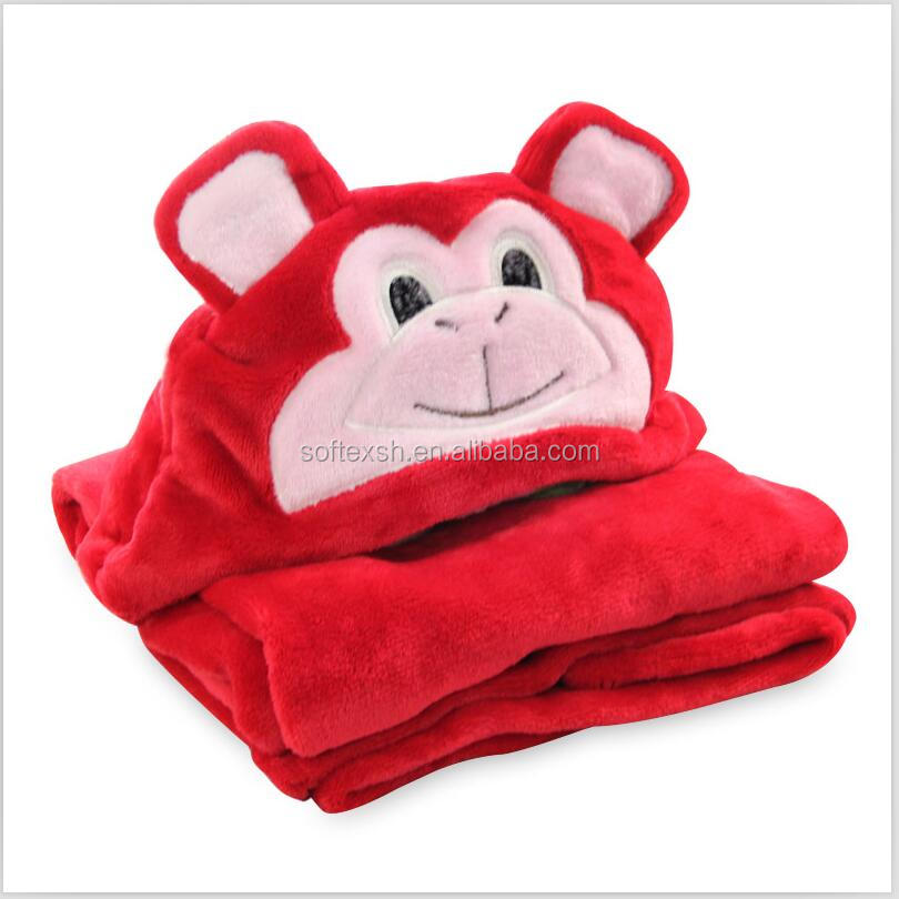 direct buy china factory head animal cartoon receiving blanket <strong>baby</strong>