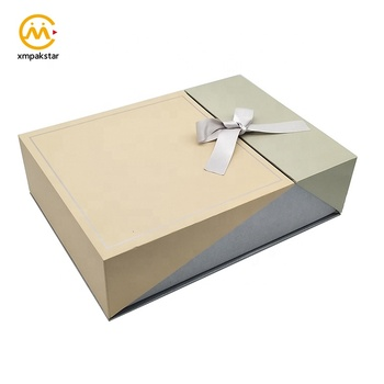 Customised eco friendly double door large cardboard costume paper box for apparel pack