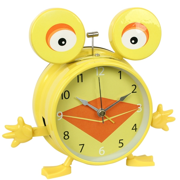 Kids talking alarm clock with yellow duck design