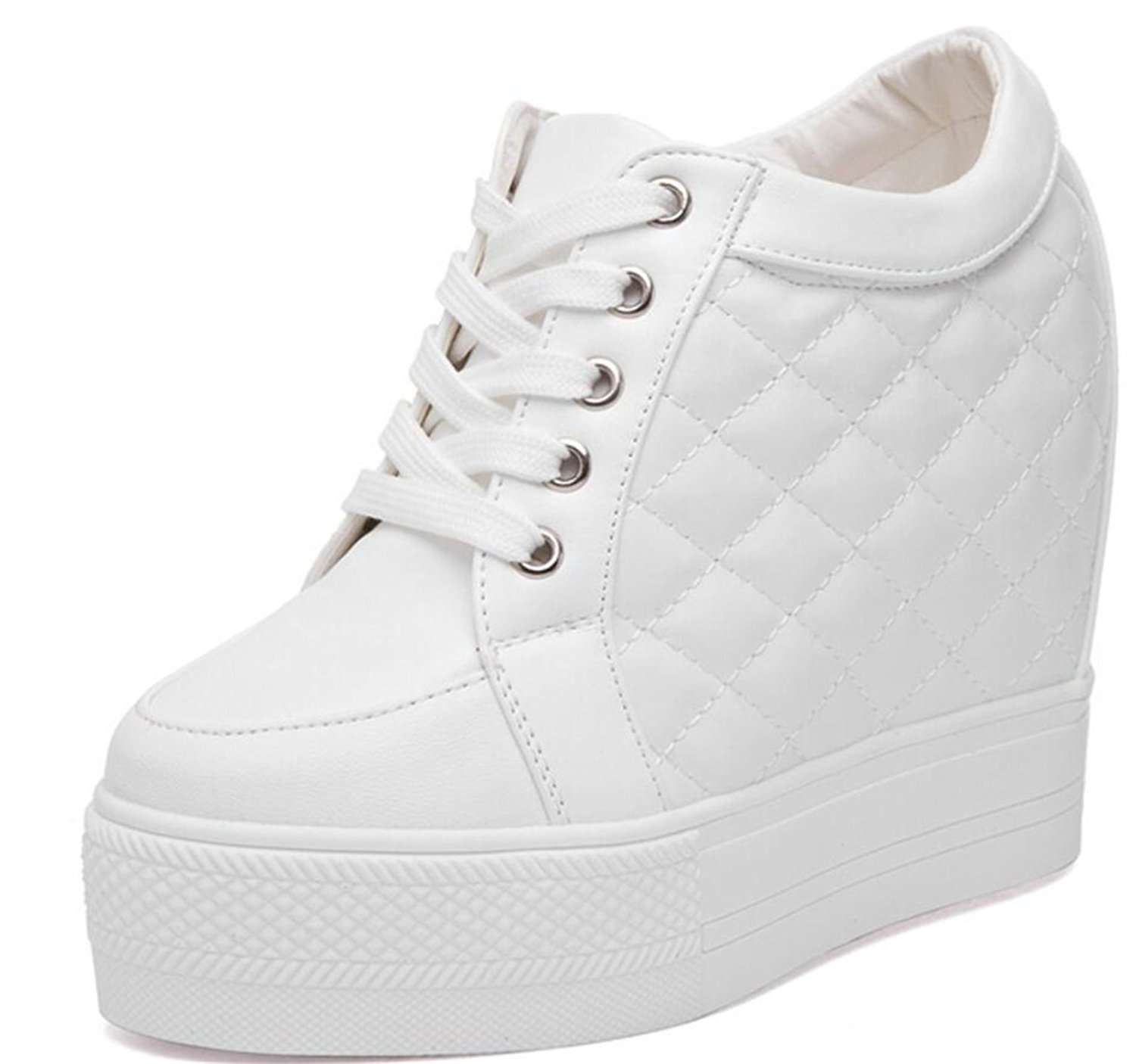 a52d39bde7b9 Get Quotations · Wedges Sneakers for Women White
