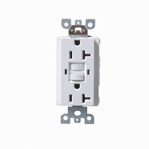 20A 125V American Standard Electrical Outlet GFCI UL Listed White Color Receptacle