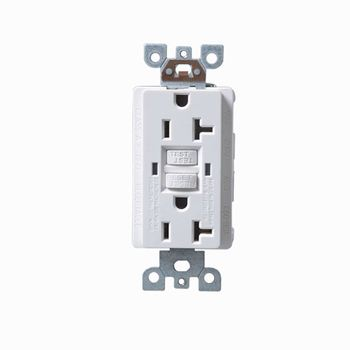 20a 125v American Standard Electrical Outlet Gfci Ul Listed White ...