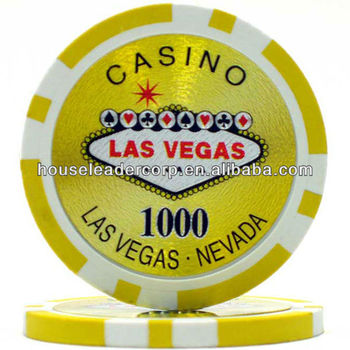 11.5g custom plastic token / Welcome to Las Vegas custom plastic token