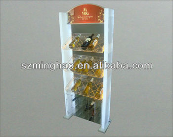 4 Layer Acrylic Wine Bottle Display Holder/ Display Rack With Led ...