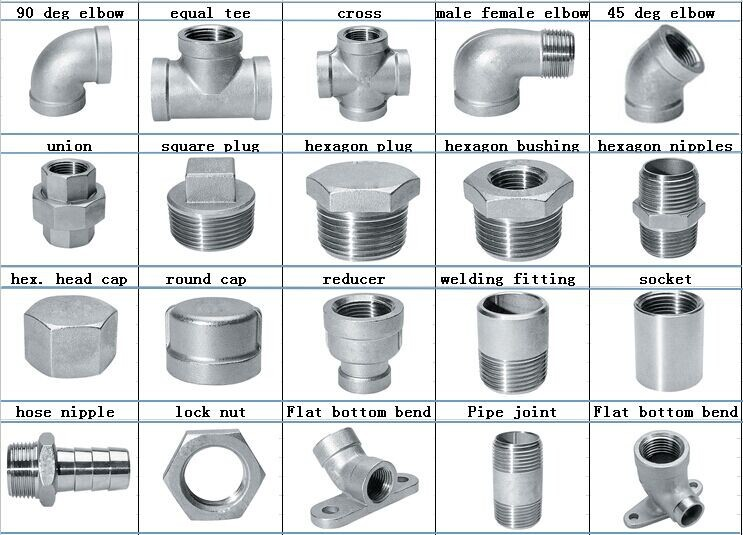 Stainless Steel Pipe Fittings Bsp Threaded 1 2 Inch Lock