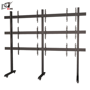 32 To 65 Inch Video Wall Mobile Stand 3 x 3 TV Mount For Meeting Room