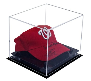40eb031e3e6 Deluxe Acrylic Display Case for Collectible Sports Baseball Hat or Cap with UV  Protection