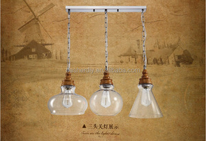 Antique Chic Carbon Filament Edison Light Bulb Loft glass pendant lamp/light Vintage Style glass pendant light from Zhongshan