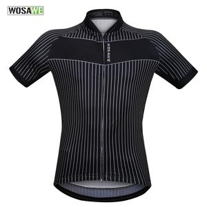 WOSAWE In Stock Cycling Short sleeve Jersey For men summer MTB Bike Jersey Shirt with Sublimation Printing Ciclismo Costumes