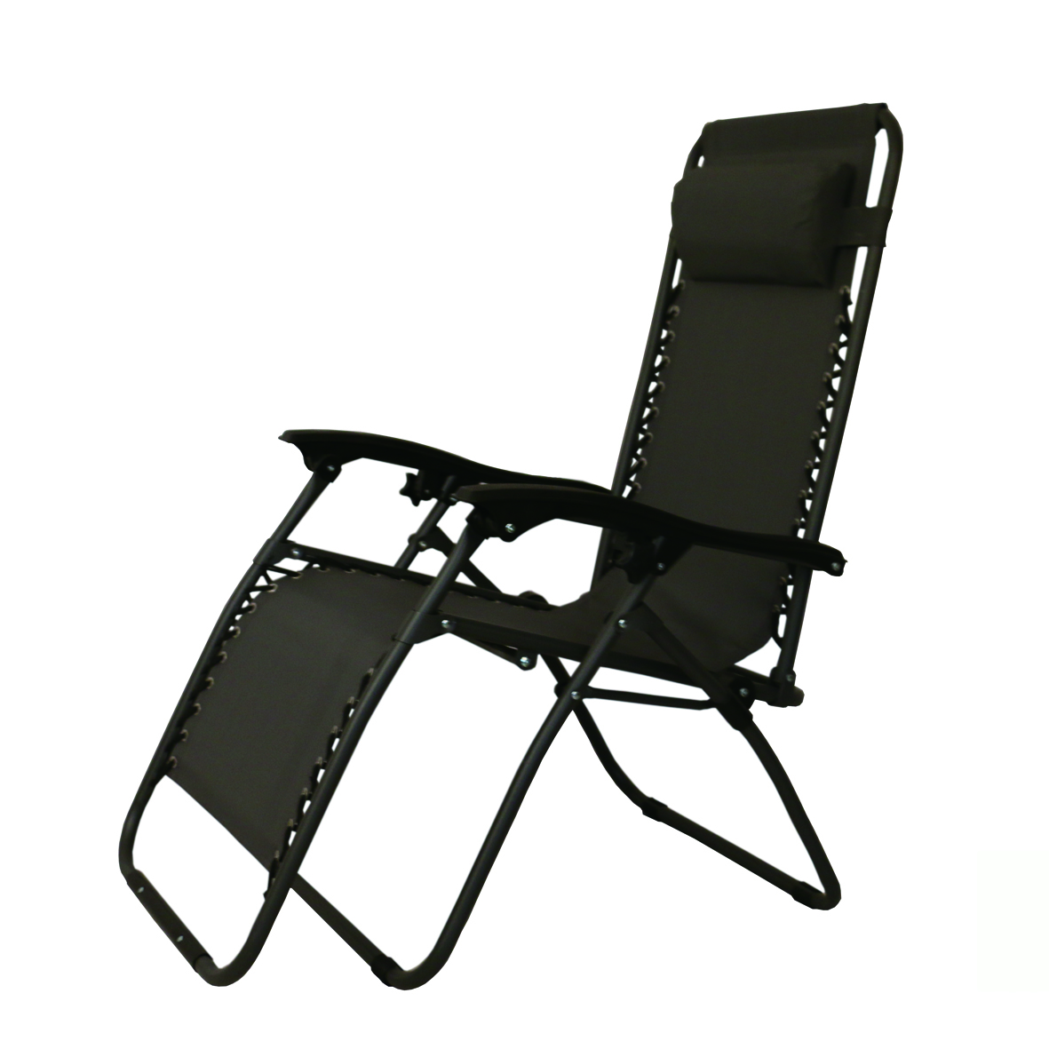 Outdoor Chaise Beach Sun Chaise Lounge Zero Gravity Chair Recliner Sling Chair with Cup Holder
