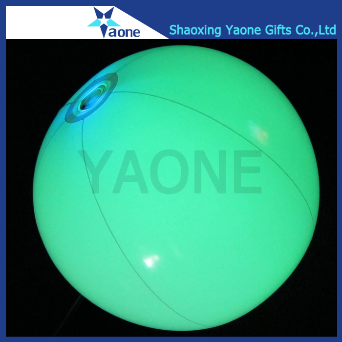 Colorful PVC inflatable custom size LED light up beach ball