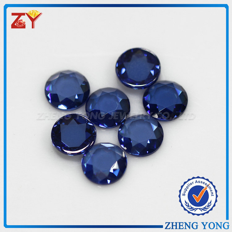 Wholesale round flat back cubic zirconia/ cz precious stones loose gem stone borland for men pendant