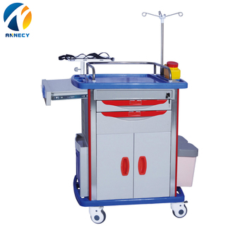 AC-ET008 medical trolley with drawers ABS material made one mould formed