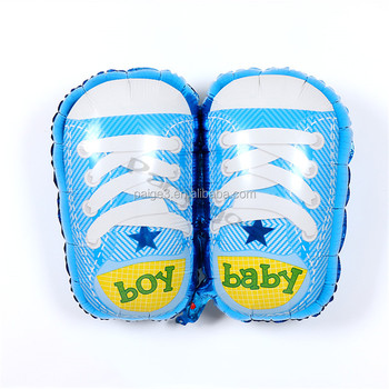5575cm Blue And Pink Baby Shoes 1 Year Birthday Balloons For Party Decorations