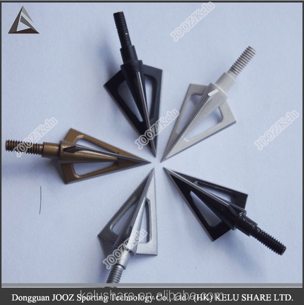 customized broad head 3 blades hunting arrow archery equipment