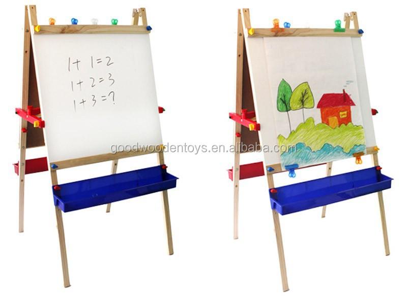 Kantoor school schildersezel kinderen magnetische schilderen board stand verstelbare houten - Kantoor houten school ...