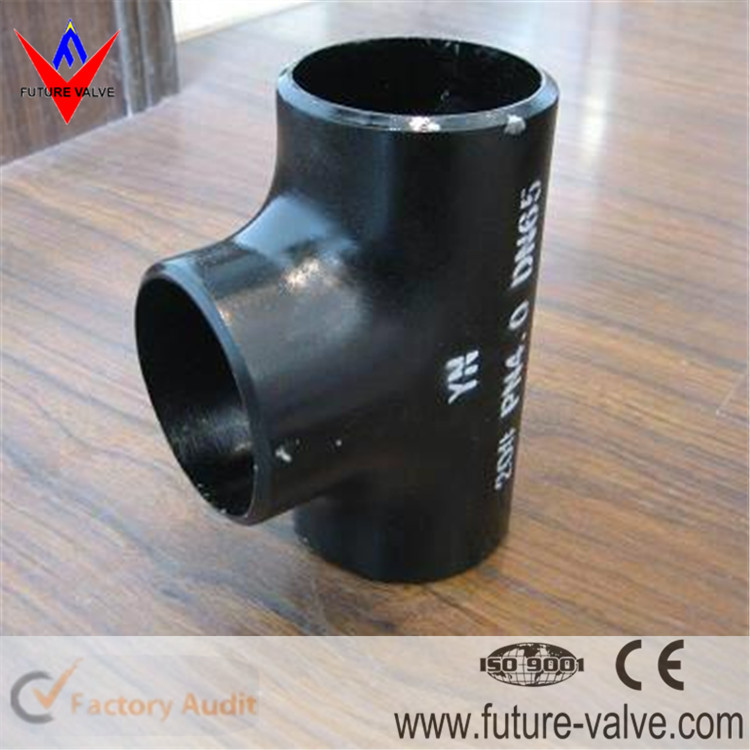 ASME B16.9 Butt Weld A234 WPB Tee Pipe Fittings