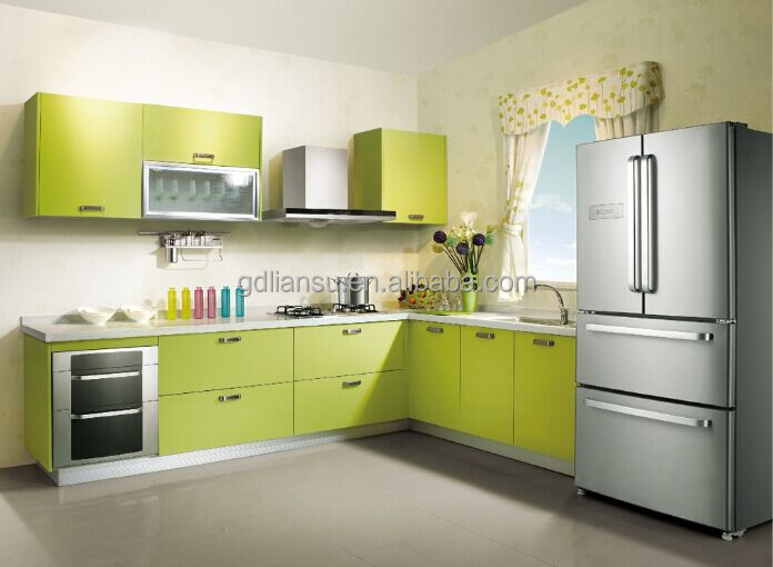 lesso brand urban fashion plastic kitchen cabinet, View plastic ...