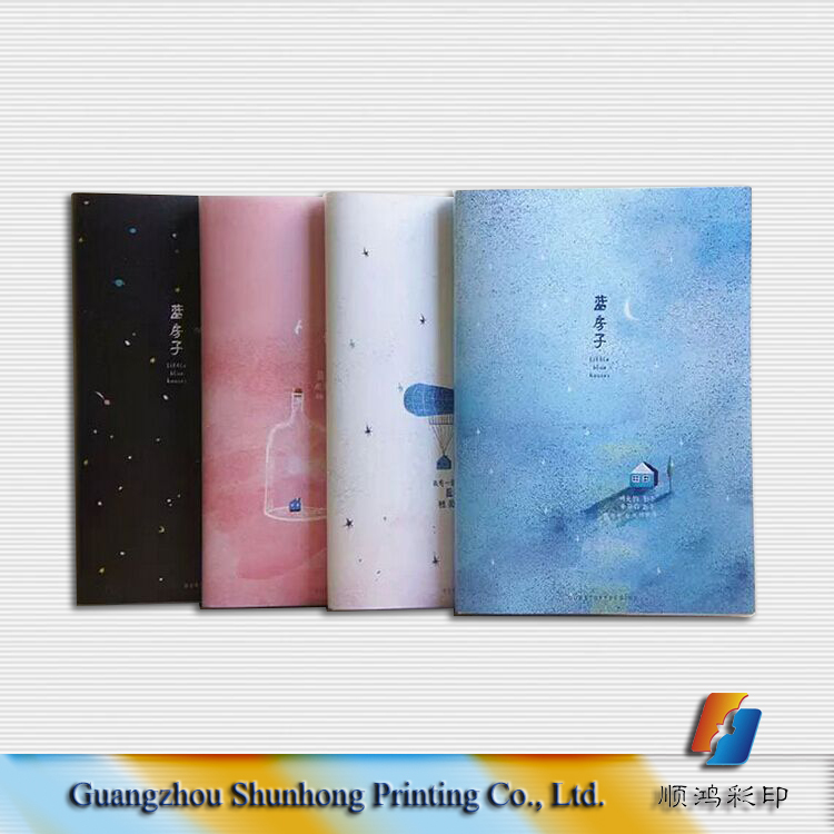 Custom full color printing notebook, kraft paper notebook, offset printing notebook with plastic bag