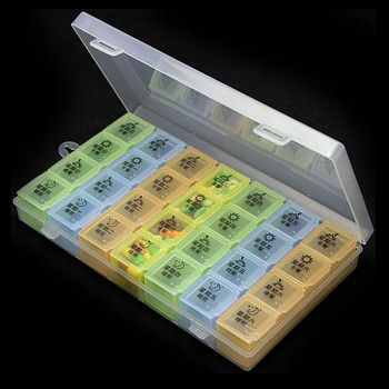 Plastic Customized Rectangle week pill box, candy box, storage box