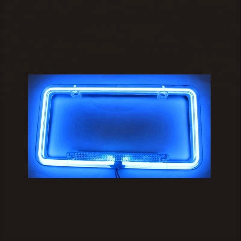 Number Plate Suppliers >> Universal Neon Illuminated Acrylic Car License Plate Frame Blue - Buy Plastic License Plate ...