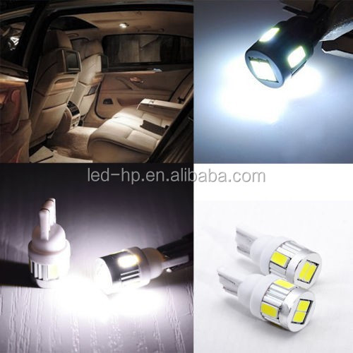 T10 6 smd 5630 led W5W 194 168 193 2825 921 W5WB Car Wedge Clearance Parking License Plate Rear Turn signal 12V