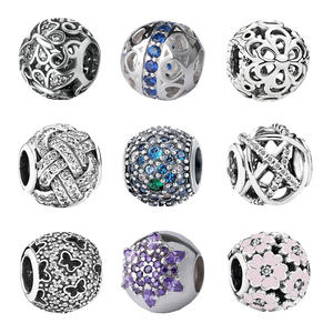 cheap wholesale charms silver 925 beads fits for pandora snake bracelet making