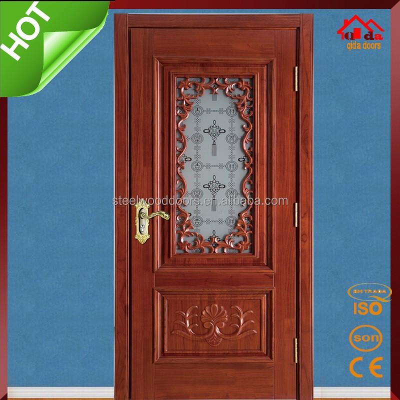 Single Main Kitchen Room Wood Glass Door Design Buy Wood Glass