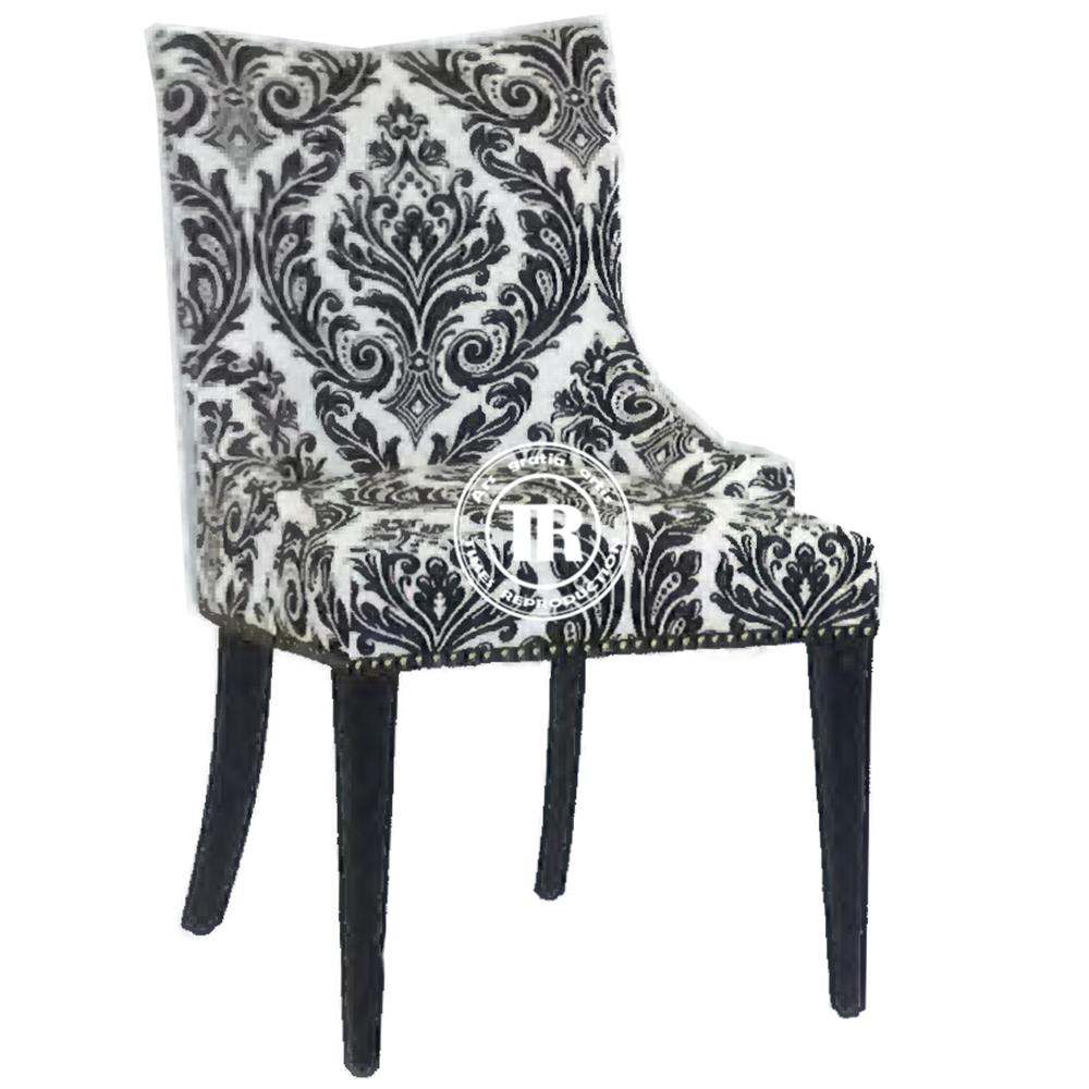 Moderna tapizado parsons silla de comedor madera de roble - Tela para sillas de comedor ...