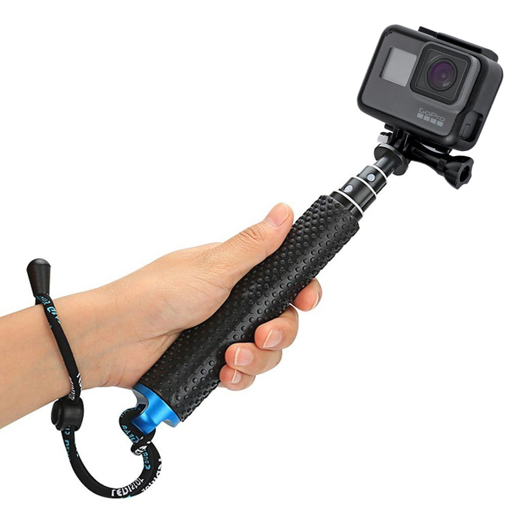 "Makit Adjustable 19"" Waterproof Selfie Stick Handheld Monopod for GoPro Hero 7 / Hero 6/ Hero 5"