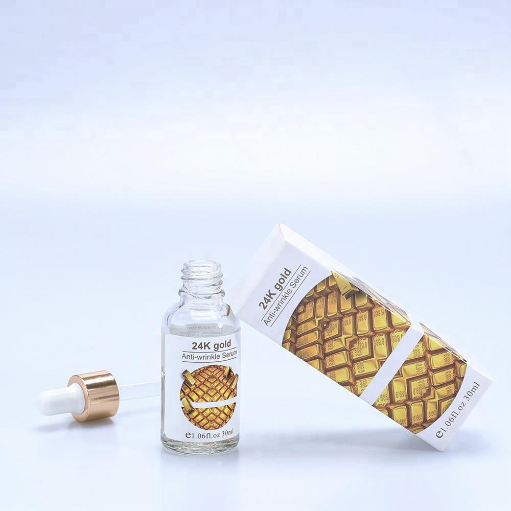 Private Label 24 k Oro Collagene Siero di Vitamina C Siero Viso 24 k Oro La Cura Della Pelle Cosmetici Siero