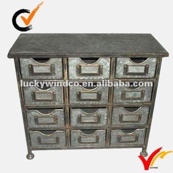 galvanized mini antique small drawing storage cabinet on table top & Galvanized Mini Antique Small Drawing Storage Cabinet On Table Top ...