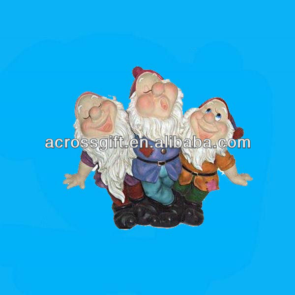 Seven resin solar dwarfs light