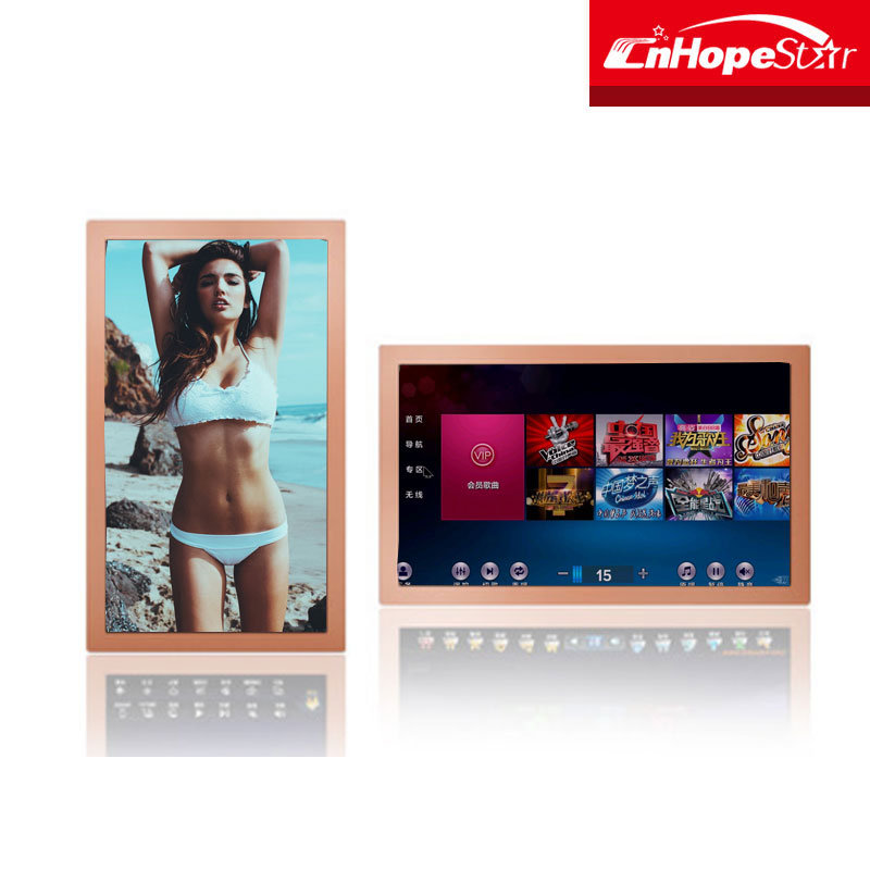 Popular wall mount embed 19 Inch monitor Infrared Touch Screen KTV Karaoke Monitor display