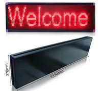 Outdoor LED Moving Sign P10 Single red green white color 32x16 dots pixel Led waterproof Display Module