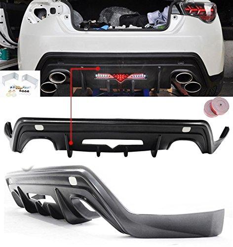 13-17 2013-2017 Scion FRS Subaru BRZ GT 86 Type-T Rear Bumper Lip Spoiler Diffuser Urethane PU 2013 2014 2015 2016 2017
