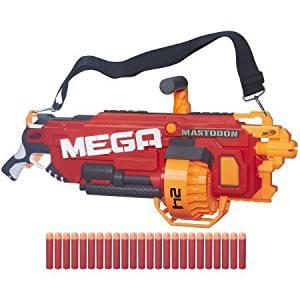 Nerf N-Strike MEGA Mastodon Blaster Includes motorized blaster