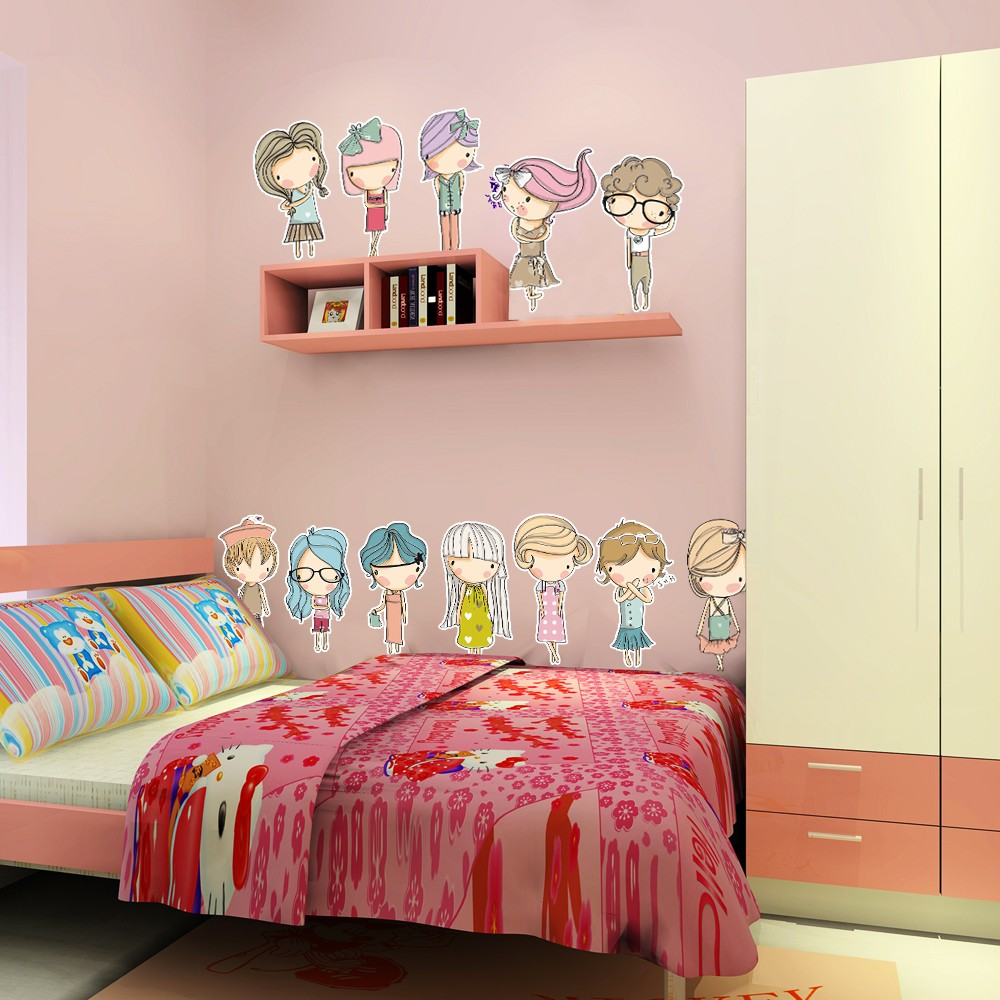 Kids room removable wall decals high quality pvc childrens - Childrens bedroom wall stickers removable ...