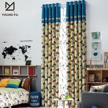 New style kids bedroom window curtain treatment ready made blackout curtain for children