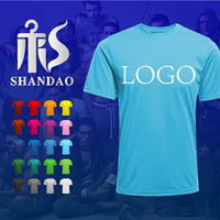 Guangzhou Shandao Summer Men O-Neck Short Sleeve 180g 100% Cotton Custom Washed Screen Printing Vintage T Shirts