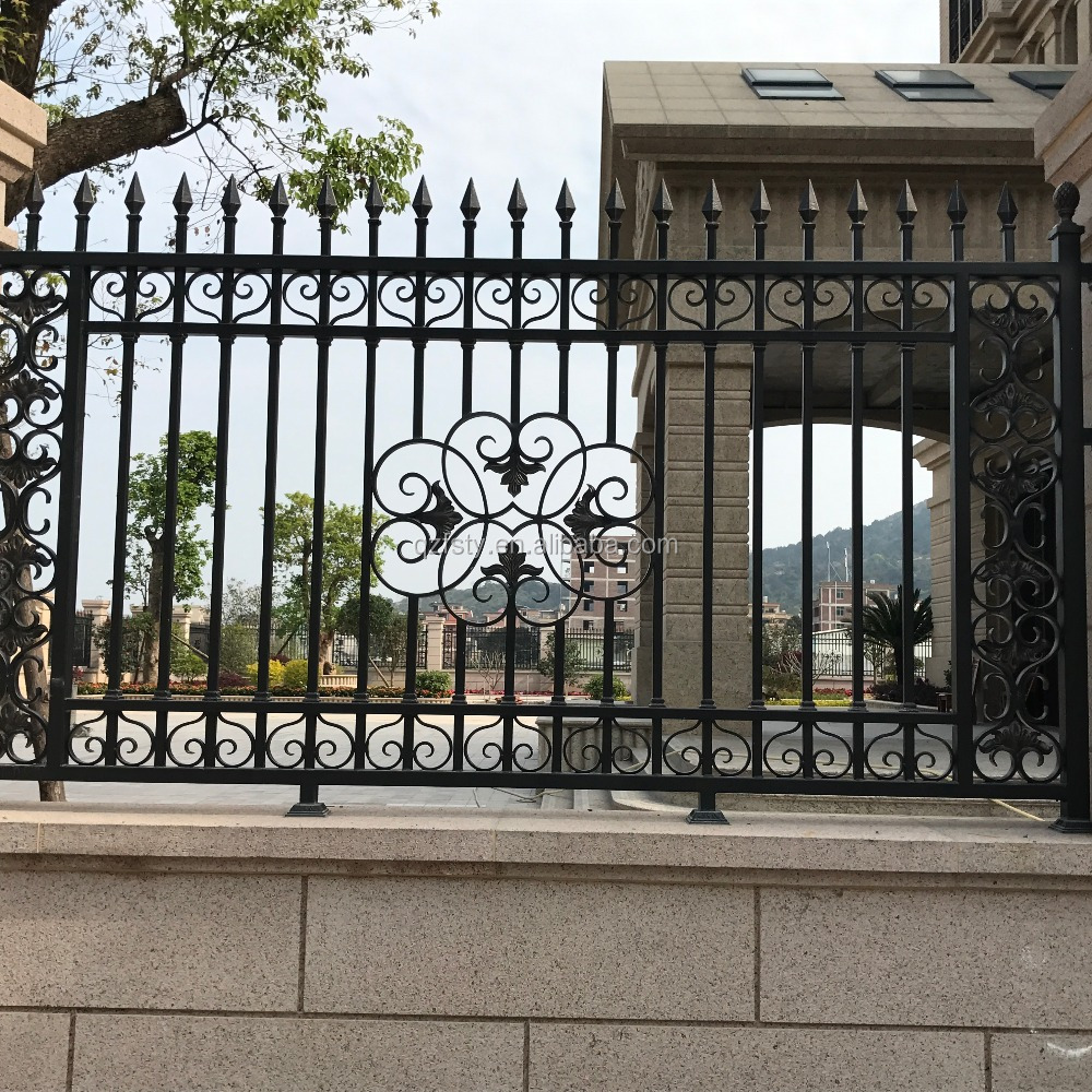 Luxury Villa wrought iron wall fencing designs