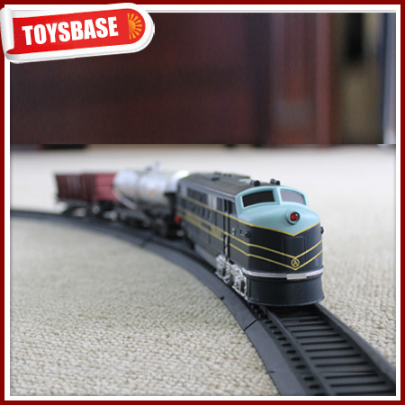 Kids Funny B/O Battery Operated 1:87 Plastic Classic Railway Electric Model old train sets