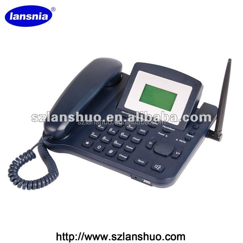 QUAD BAND 850/900/1800/1900MHz GSM PSTN BATTERY OPERATED PHONE