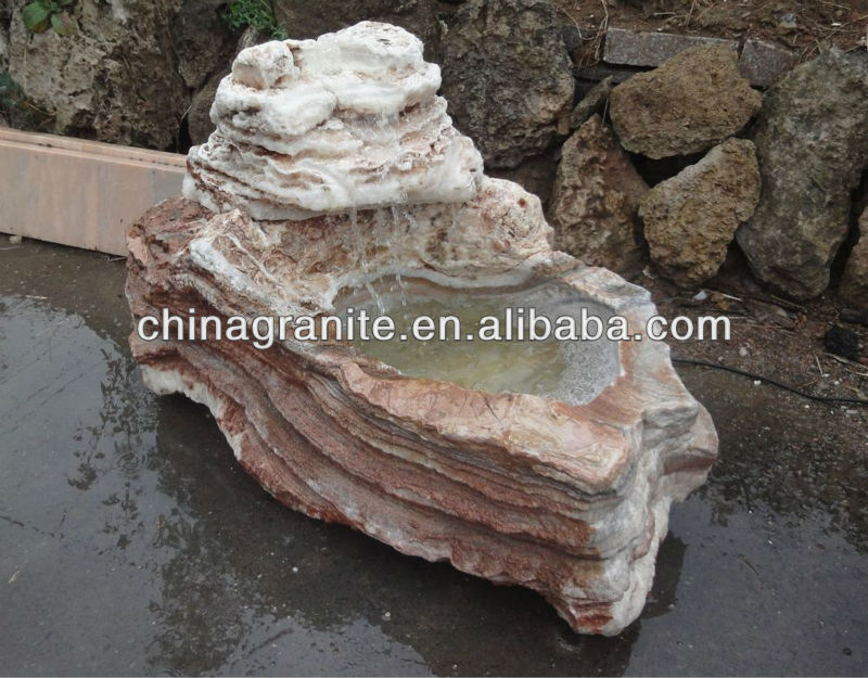high quality natural rock garden stone water fountain