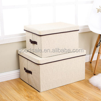 Living Room Wardrobe Drawer Dustproof Organizer Bins Stackable Folding Storage Box For Clothes