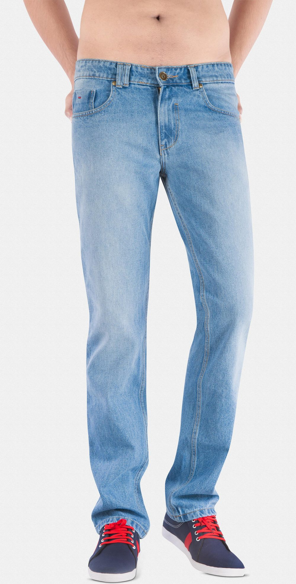 Street Guys' Blue High Waist Jeans