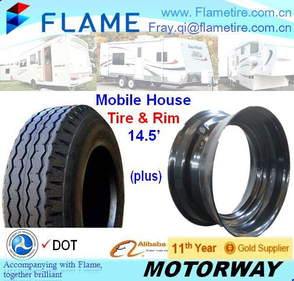 14.5 x 6 Open Center Demountable Mobile Home Steel Trailer Wheel 7-14.5 8-14.5