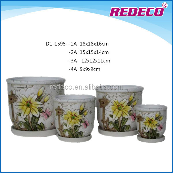 Small indoor decorative ceramic planters