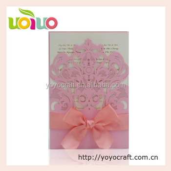 2017 New Design Best Price Business Wedding Invitation Card For