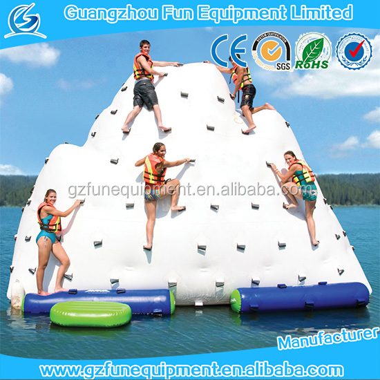 challenge adventure floating inflatable iceberg inflatable water rock climbing wall inflatable pool iceberg iceberg float